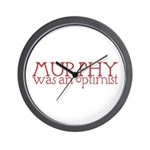 Murphy: Optimist Wall Clock