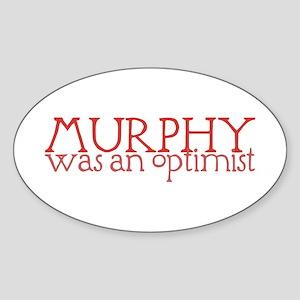 Murphy: Optimist Oval Sticker