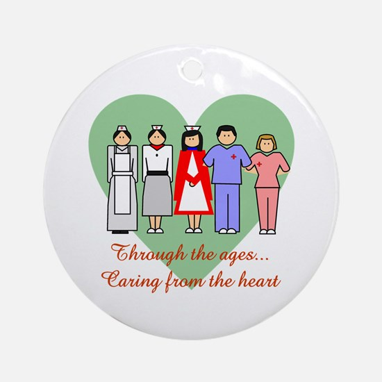 Caring From The Heart Ornament (Round)
