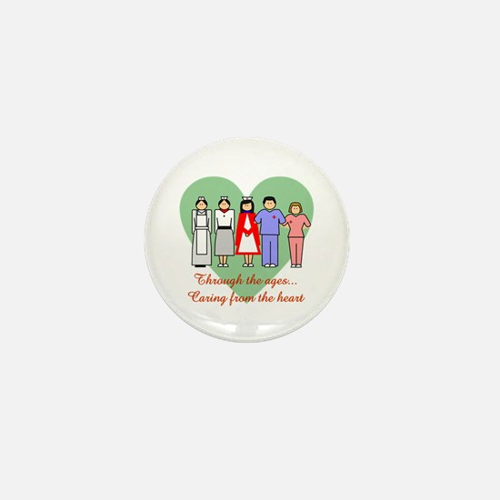 Caring From The Heart Mini Button
