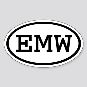 EMW Oval Oval Sticker