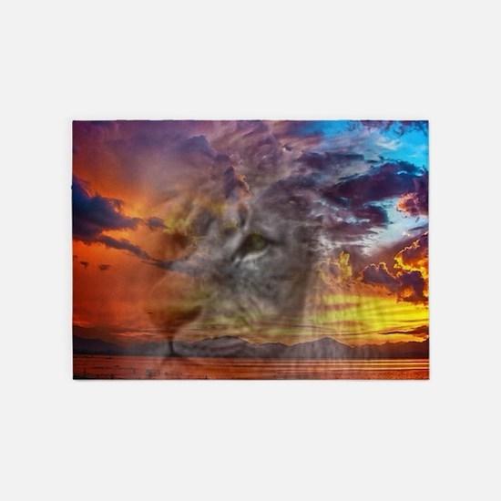Magic Animals THE LION 5'x7'Area Rug