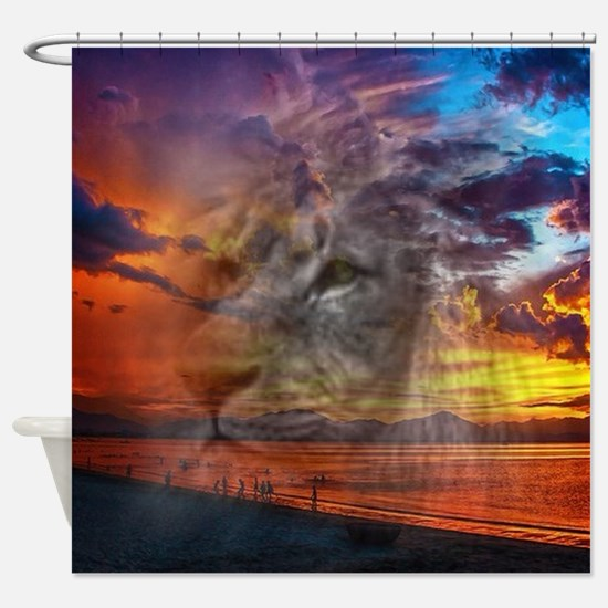 Magic Animals THE LION Shower Curtain