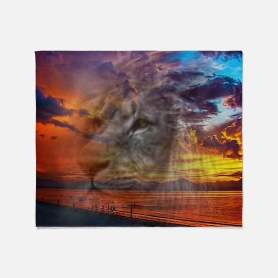 Magic Animals THE LION Throw Blanket
