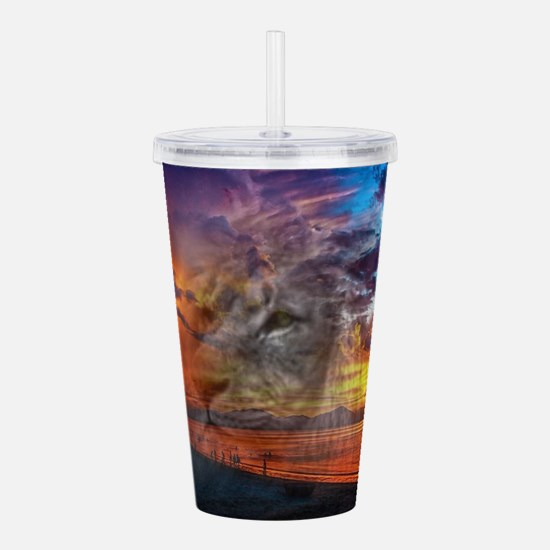 Magic Animals THE LION Acrylic Double-wall Tumbler