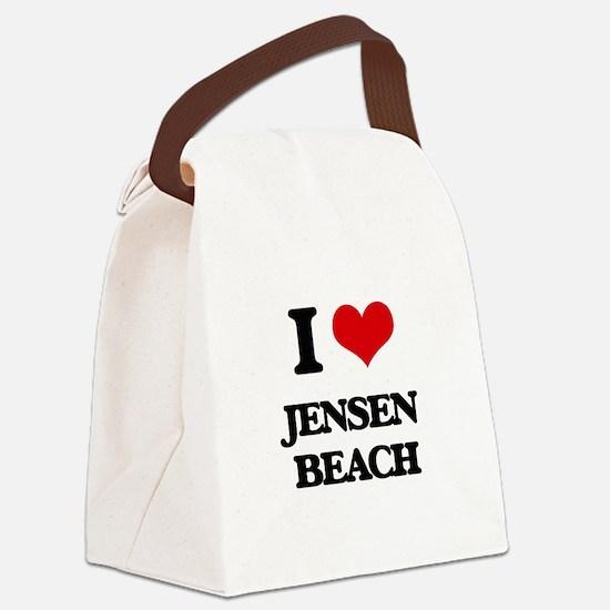 I Love Jensen Beach Canvas Lunch Bag