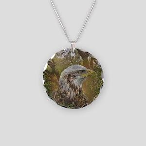 Magic Animals HAWK Necklace Circle Charm