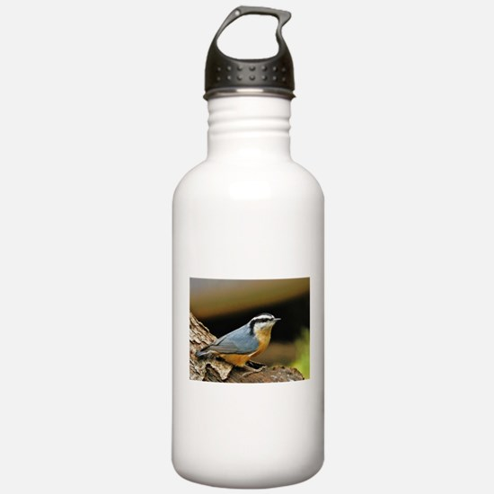 """""""NUTHATCH POSE"""" Water Bottle"""