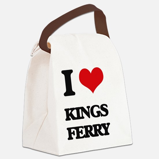 I Love Kings Ferry Canvas Lunch Bag