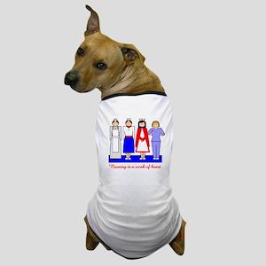 Nursing Is A Work Of Heart Dog T-Shirt
