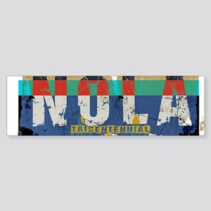 NOLA 300 Year Tricentennial Artwork Bumper Sticker