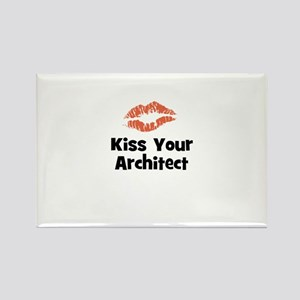Kiss Your Architect Rectangle Magnet