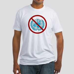"""U.S. out of the U.N."" Fitted T-Shirt"