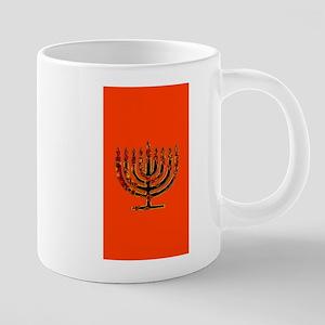 Orange Glowing Menorah Hanukkah 4Deb Mugs