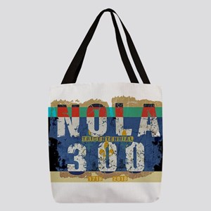 NOLA 300 Year Tricentennial Art Polyester Tote Bag