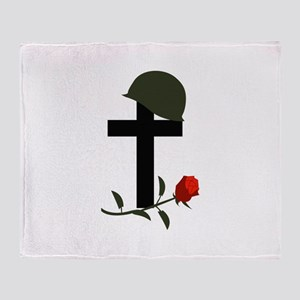 SOLDIERS GRAVE Throw Blanket