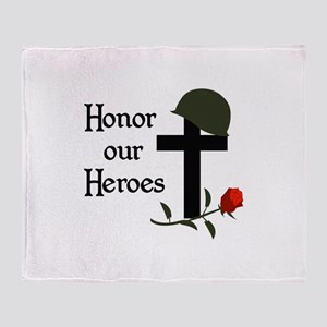HONOR OUR HEROES Throw Blanket