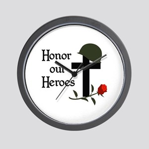 HONOR OUR HEROES Wall Clock