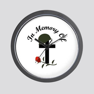 IN MEMORY OF Wall Clock