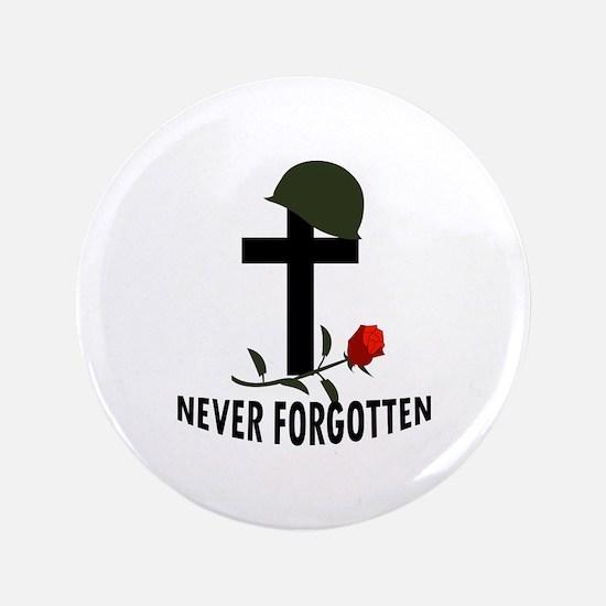 """NEVER FORGOTTEN 3.5"""" Button"""