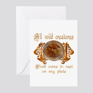 all wild creatures shall come Greeting Cards (Pack