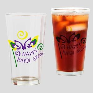 HAPPY MARDI GRAS Drinking Glass