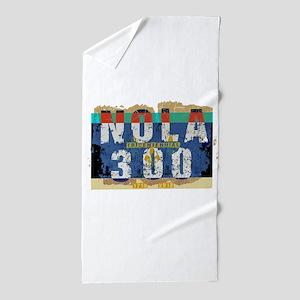NOLA 300 Year Tricentennial Artwork Beach Towel