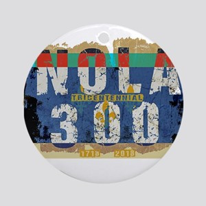 NOLA 300 Year Tricentennial Artwork Round Ornament