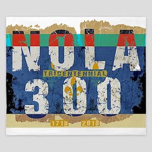 NOLA 300 Year Tricentennial Artwork King Duvet