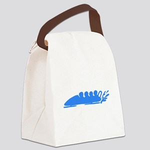 Blue Bobsledding Canvas Lunch Bag