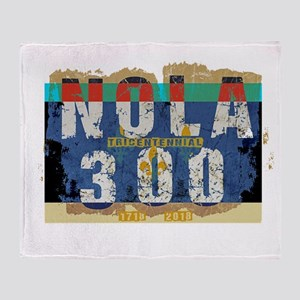 NOLA 300 Year Tricentennial Artwork Throw Blanket