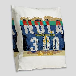 NOLA 300 Year Tricentennial Ar Burlap Throw Pillow