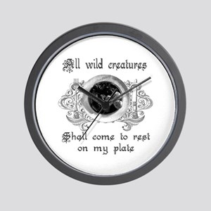 all wild creatures shall come Wall Clock