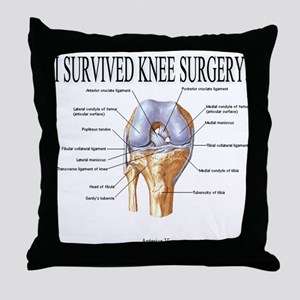 Knee Surgery Gift 3 Throw Pillow