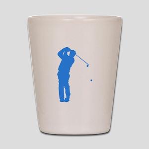 Blue Golfer Silhouette Shot Glass