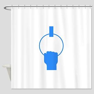 Blue Gymnastics Shower Curtain