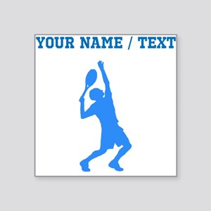 Custom Blue Tennis Player Sticker
