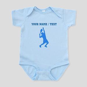 Custom Blue Tennis Player Body Suit