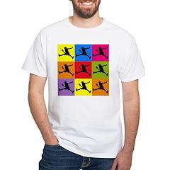 Pop Art Tennis White T-Shirt