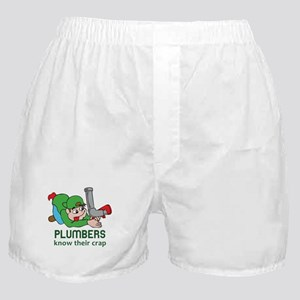 PLUMBERS KNOW THEIR CRAP Boxer Shorts