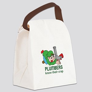 PLUMBERS KNOW THEIR CRAP Canvas Lunch Bag
