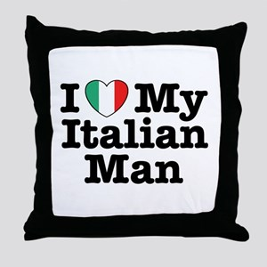 I Love My Italian Man Throw Pillow