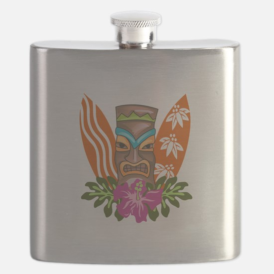 TIKI AND SURFBOARDS Flask