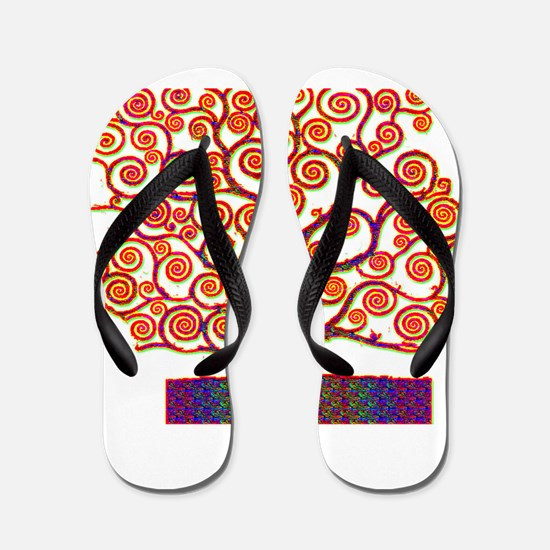 Tree of Life Psychedelic Flip Flops