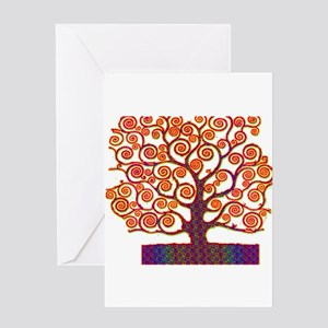 Tree of Life Psychedelic Greeting Cards