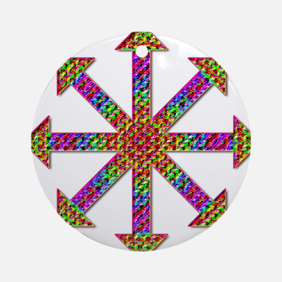 Chaos Symbol Psychedelic Ornament (Round)