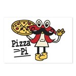 Pizza Pi Postcards (Package of 8)