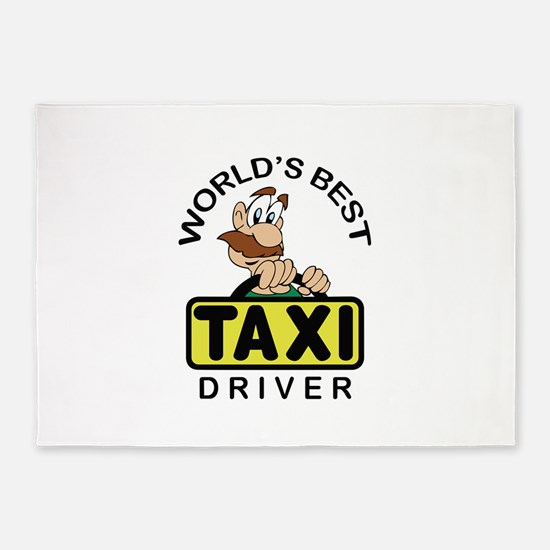 BEST TAXI DRIVER 5'x7'Area Rug