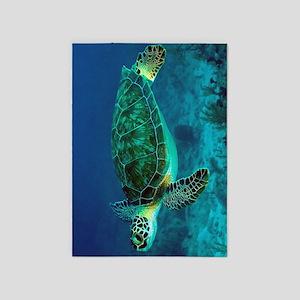 Ocean Turtle 5'x7'Area Rug