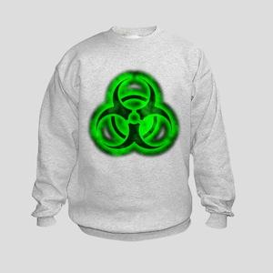 glowingBiohazardGreenTCrop Sweatshirt
